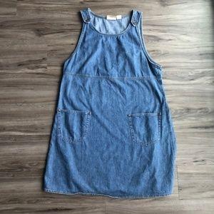 Liz Claiborne Blue Jean Denim Dress W Pockets sz L